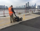 Inspection prior to removal with a ground penetrating radar survey